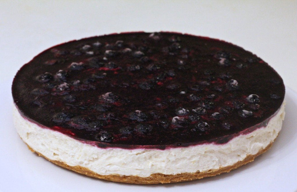Vegan Lemon and Blueberry cheesecake (nut free)