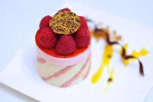 Raspberry Mousse Imprime Entremet (Vegan, Aqua faba ) Featured in the Plantified Mousses E-book . If you would like a FREE COPY ,sign up to www.plantified.com